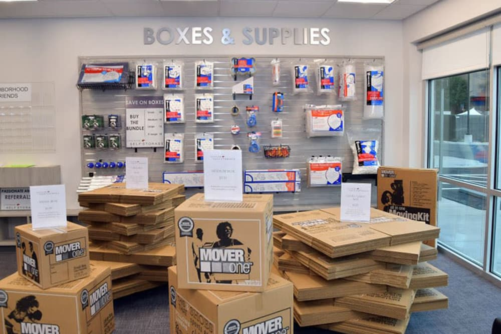 Boxes sold at Edgemark Self Storage in Glendale, Colorado