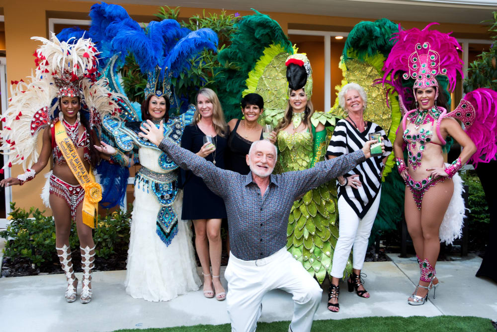 Residents and dancers celebrating at Symphony at Delray Beach in Delray Beach, Florida.