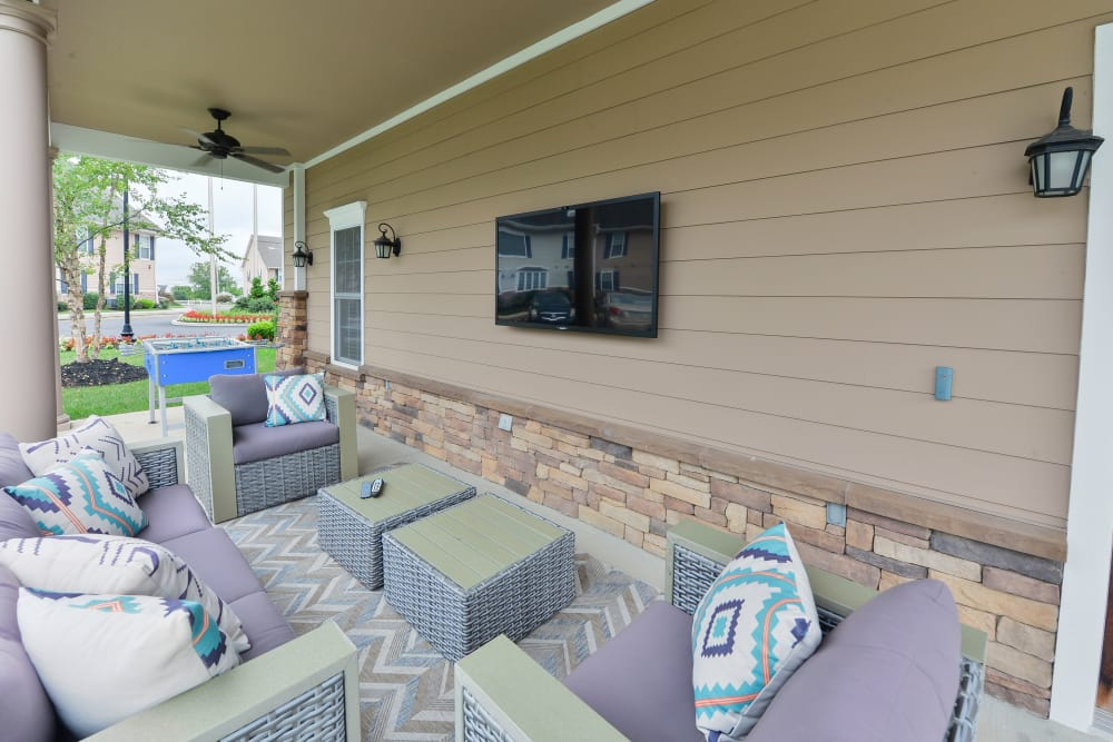 Outdoor Lounge at Montgomery Manor Apartments & Townhomes in Hatfield, Pennsylvania