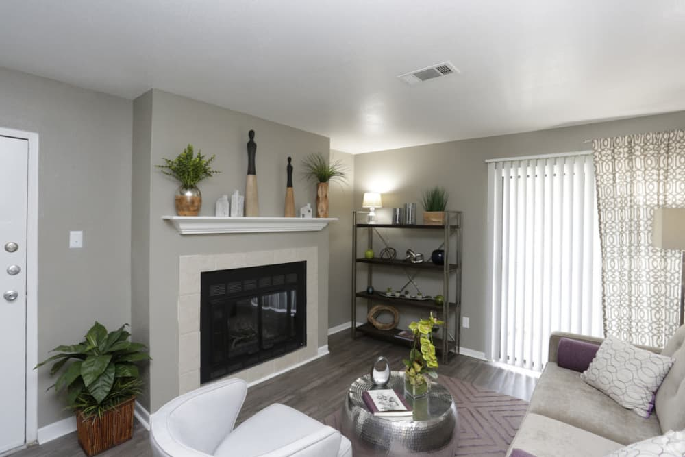 Enjoy a luxury living room at EnVue Apartments in Bryan, Texas