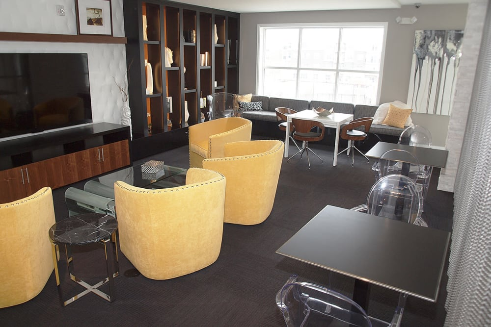 Clubhouse seating area at Element Oakwood in Dayton, Ohio