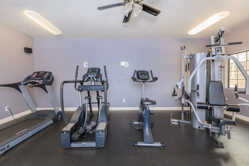 Modern fitness center at Verde Apartments in Tucson, Arizona