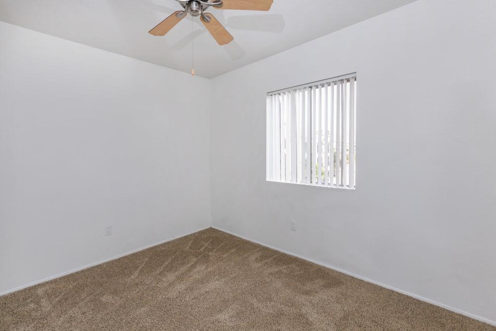 Model bedroom at Verde Apartments in Tucson, Arizona