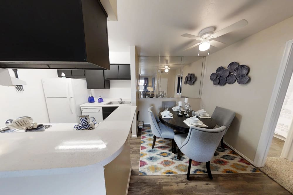 Dining and Kitchen at Brookmore Hollow Apartments in Rosenberg, Texas