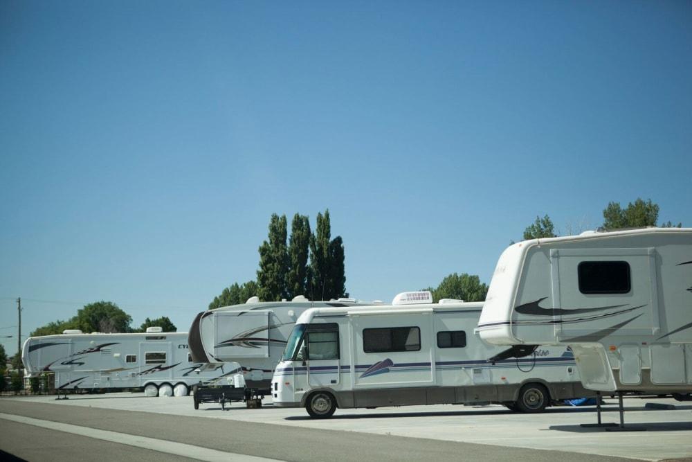 The RV Parking lot at Lock It Up Self Storage in Ogden, Utah