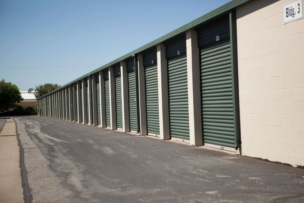 Outside storage units at Lock It Up Self Storage in Ogden, Utah
