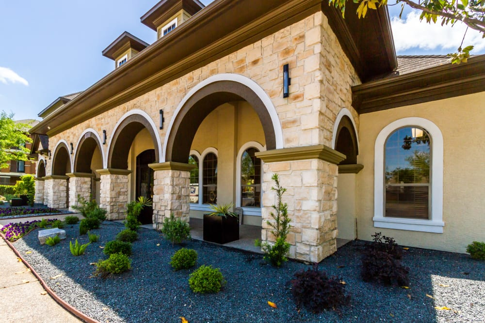 Beautiful arches outside of Legacy at Cypress in Cypress, Texas