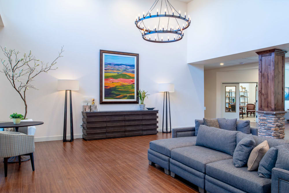 Model Living Room at Pine Grove Crossing in Parker
