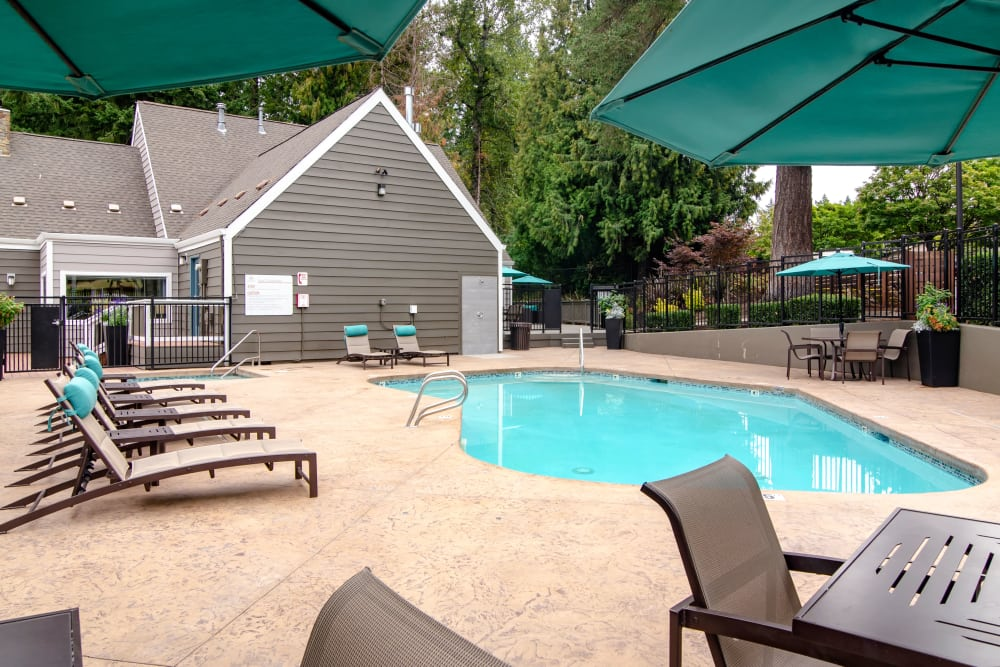 Our luxury apartments in Beaverton, Oregon showcase a swimming pool