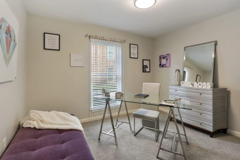 bedroom at The Mayfair Apartment Homes in New Orleans, Louisiana