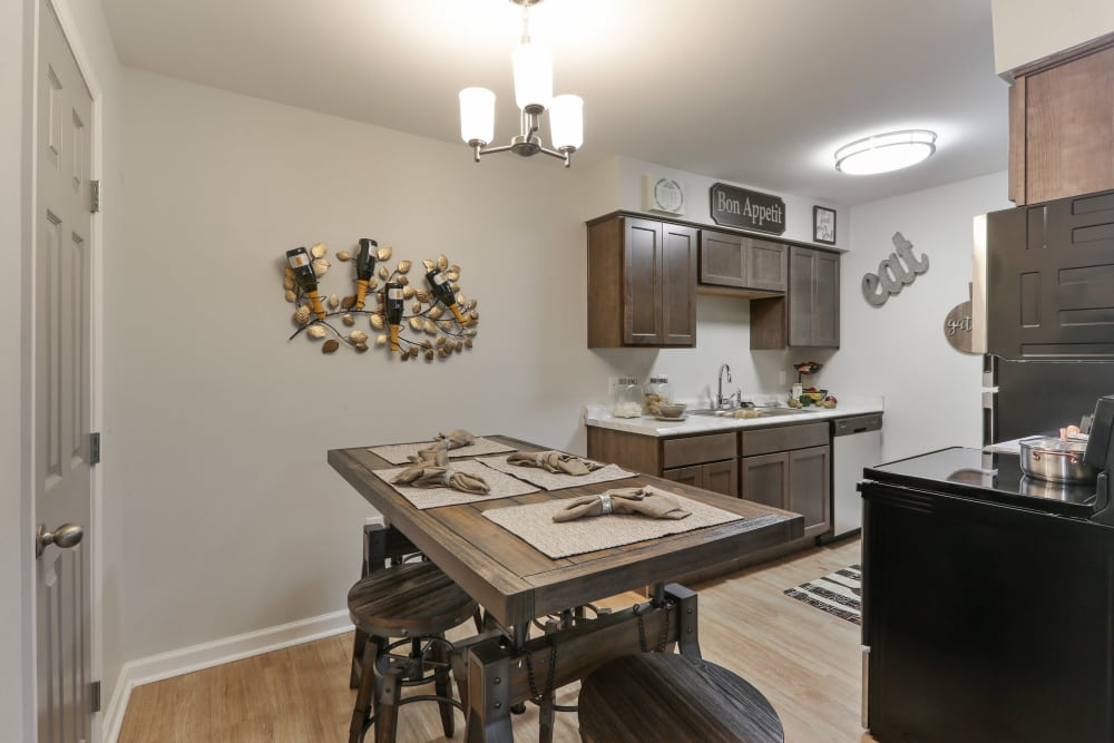 Dining area and Kitchen Entrance at The Mayfair Apartment Homes apartments for rent in New Orleans