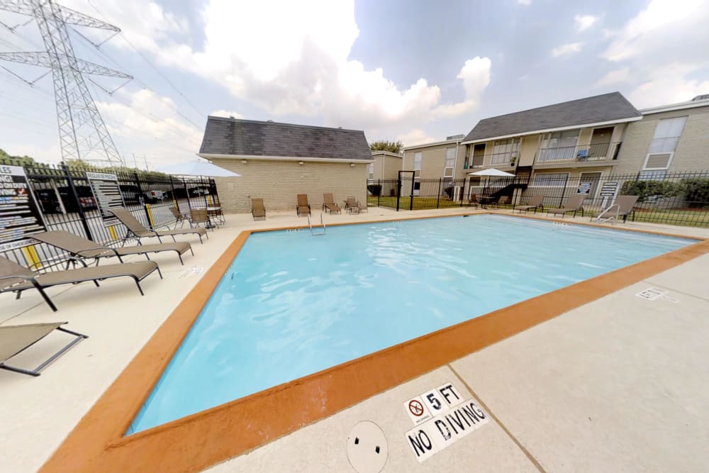 Sparkling pool at Northlake Manor Apartments