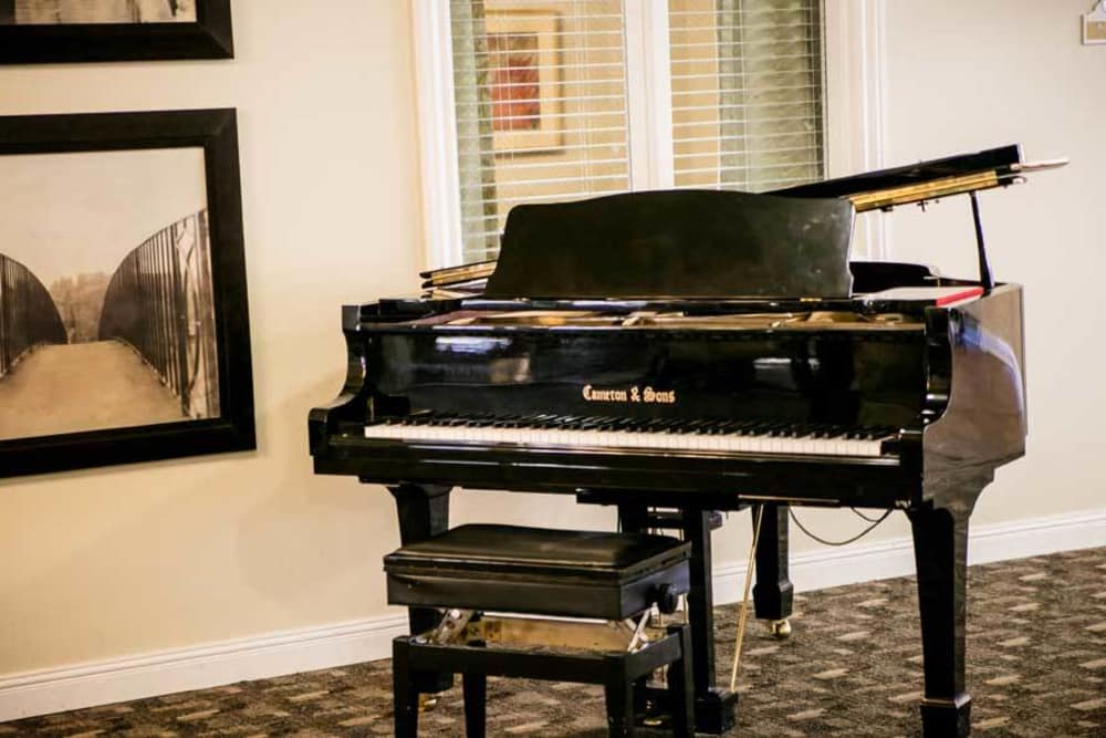 Piano for our residents at Grace Manor Assisted Living in Nashville, Tennessee