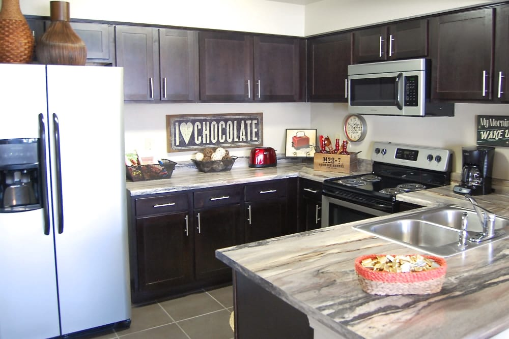 Large open kitchen at Park at Coulter in Amarillo, Texas
