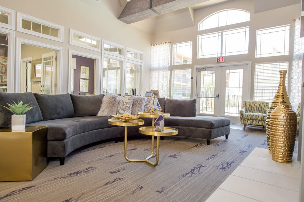 Stylish clubhouse interior at Fountain Lake in Edmond, Oklahoma