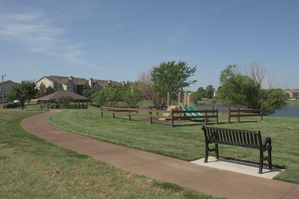 Spacious grounds at Newport Wichita in Wichita, Kansas