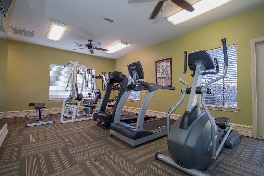 Fitness center at Newport Wichita in Wichita, Kansas