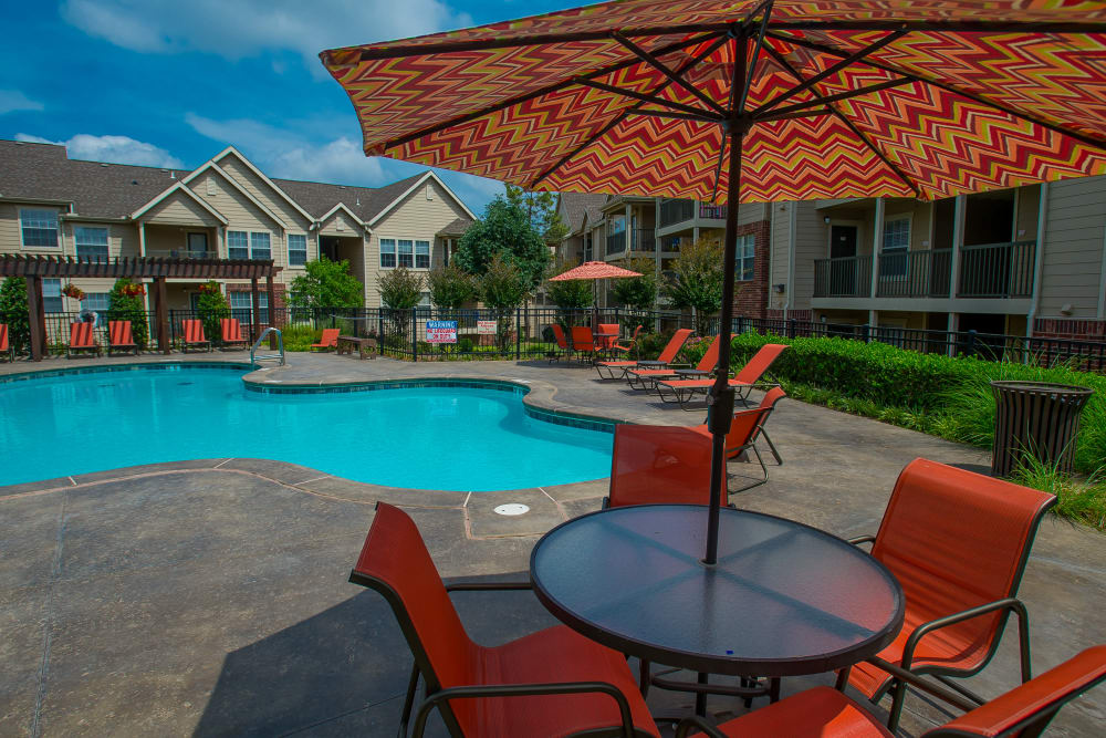 Sparkling pool at Nickel Creek Apartments in Tulsa, Oklahoma