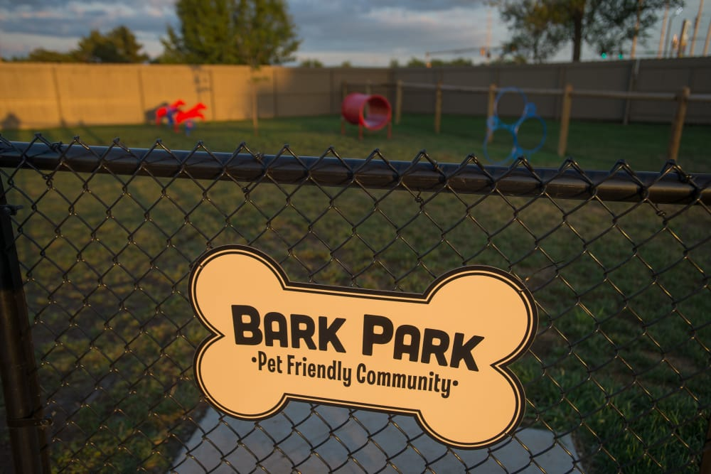 Community dog park at Portofino Apartments in Wichita, Kansas