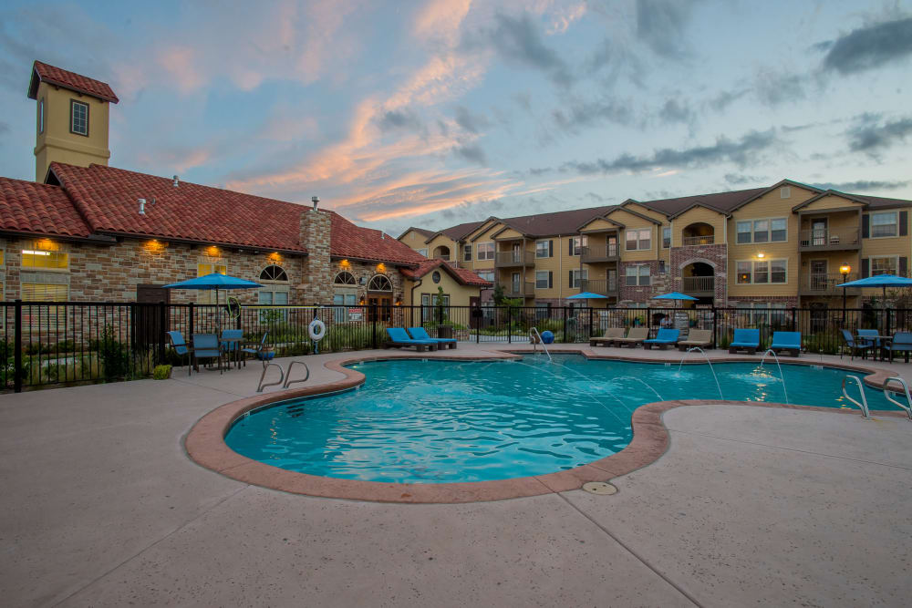 Swimming pool at Portofino Apartments in Wichita, Kansas