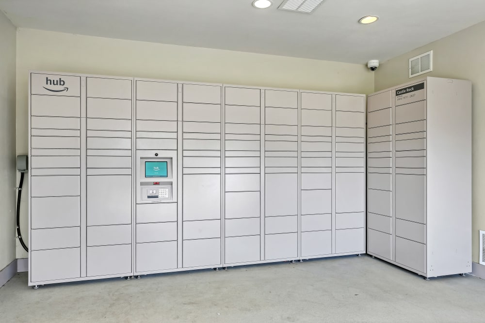 Package Lockers at The Pines at Castle Rock Apartments in Castle Rock, Colorado