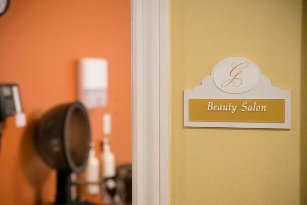 Beauty salon at Grace Manor Assisted Living in Nashville, Tennessee