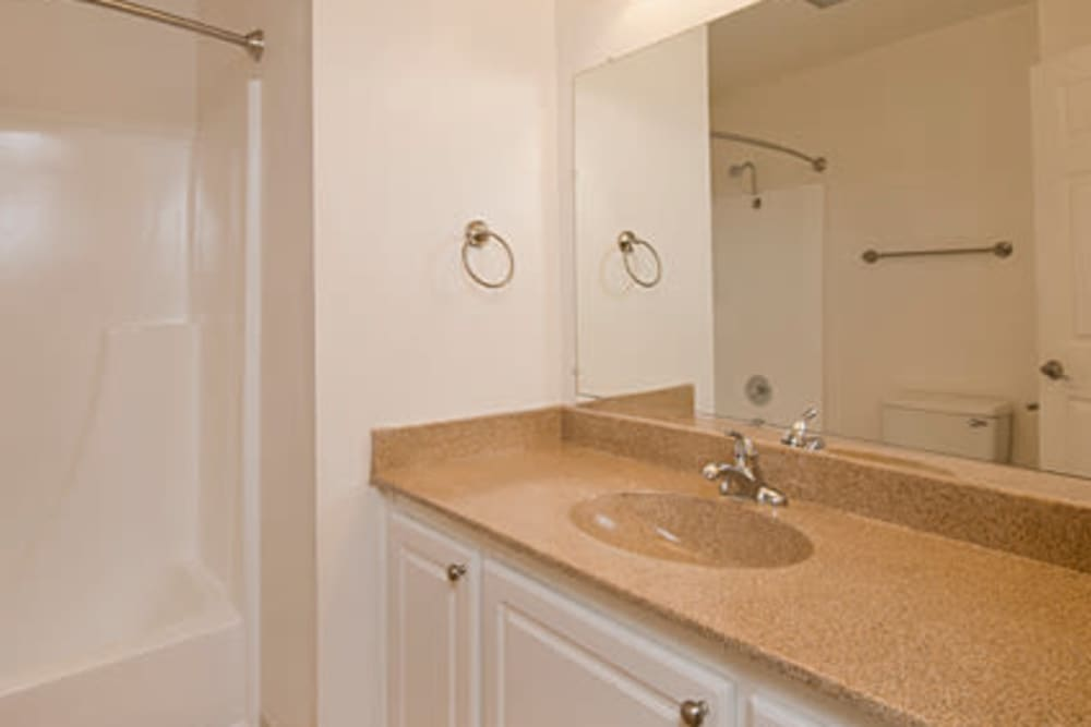 Bathroom at Villa Palms Apartment Homes in Livermore, California