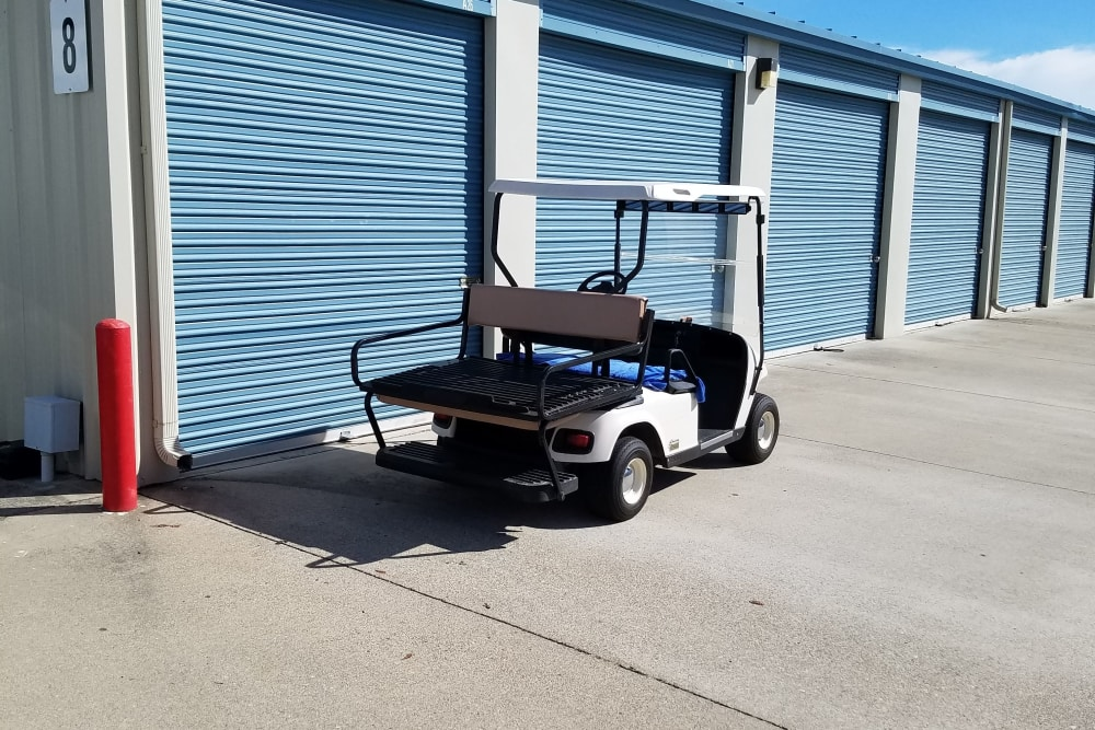 Cart at Sundance Self Storage in Roseville, California