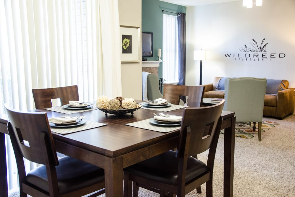 Open Dining Room at Wildreed Apartments