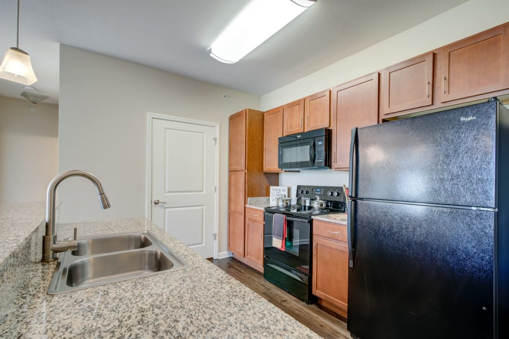 Modern kitchen at apartments in Hendersonville, Tennessee