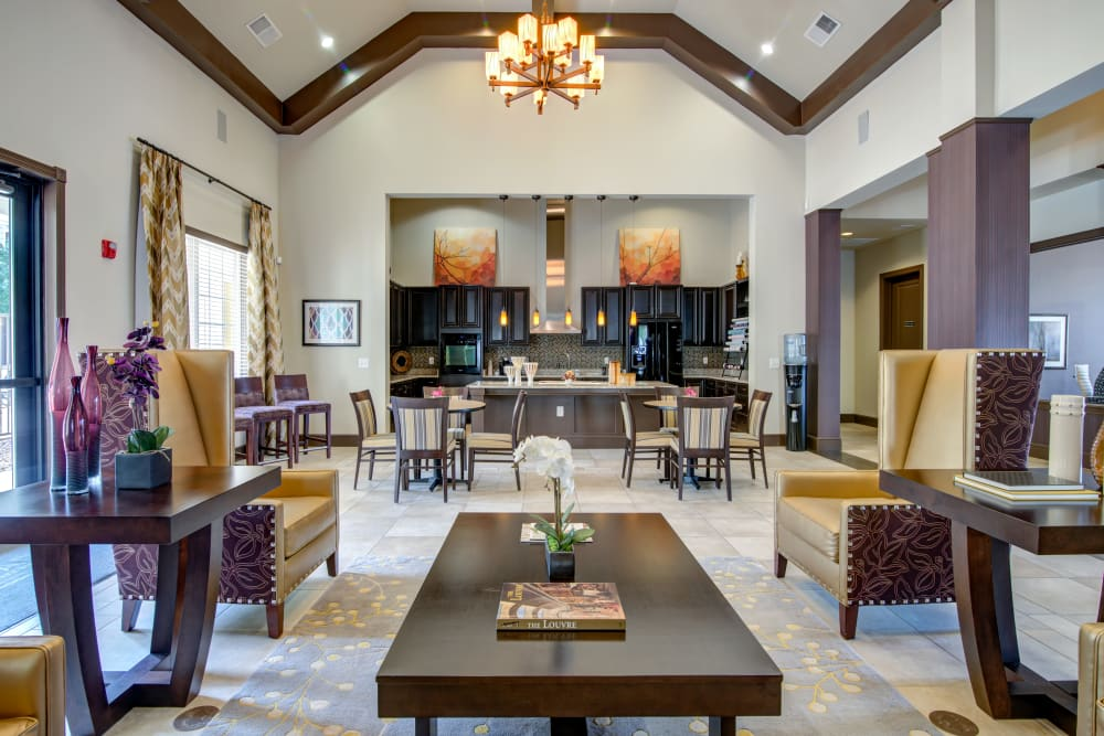 Beautiful clubhouse at apartments in Hendersonville, Tennessee