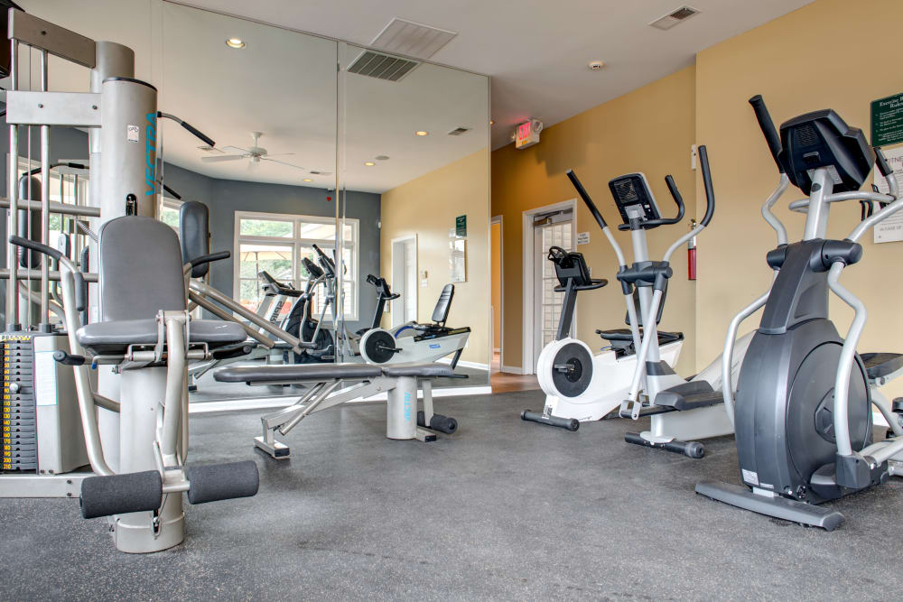 Modern fitness center at Cooper Creek in Louisville, Kentucky