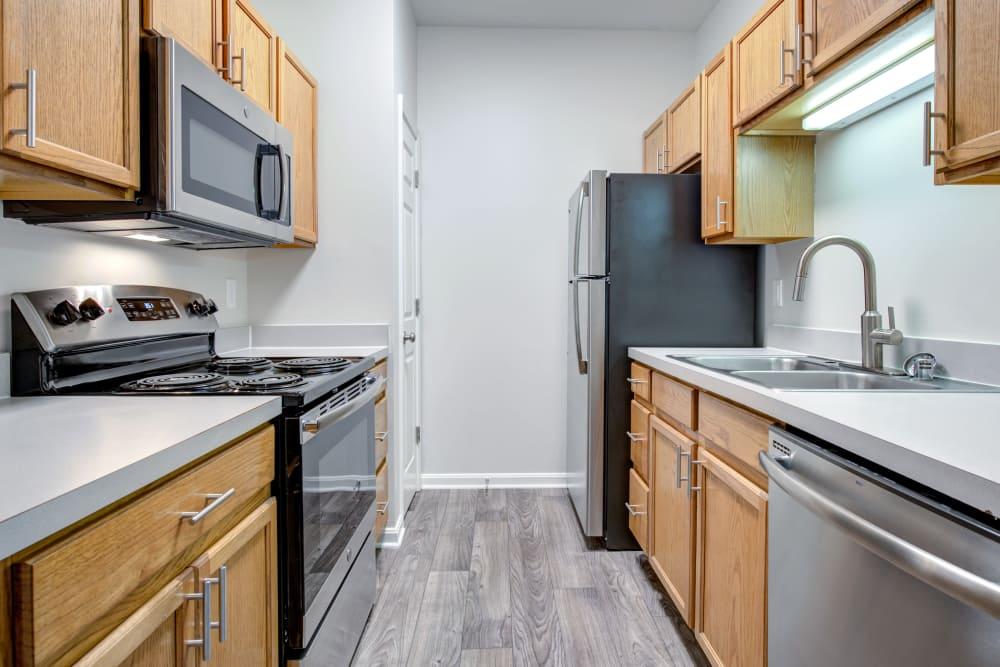 Cooper Creek offers a modern kitchen in Louisville, Kentucky