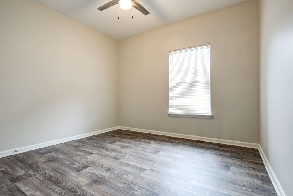 Cozy bedroom at apartments in Louisville, Kentucky