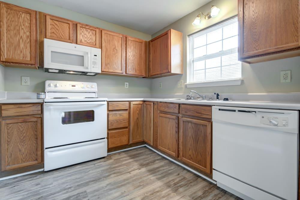 Modern kitchen at Cooper Creek in Louisville, Kentucky