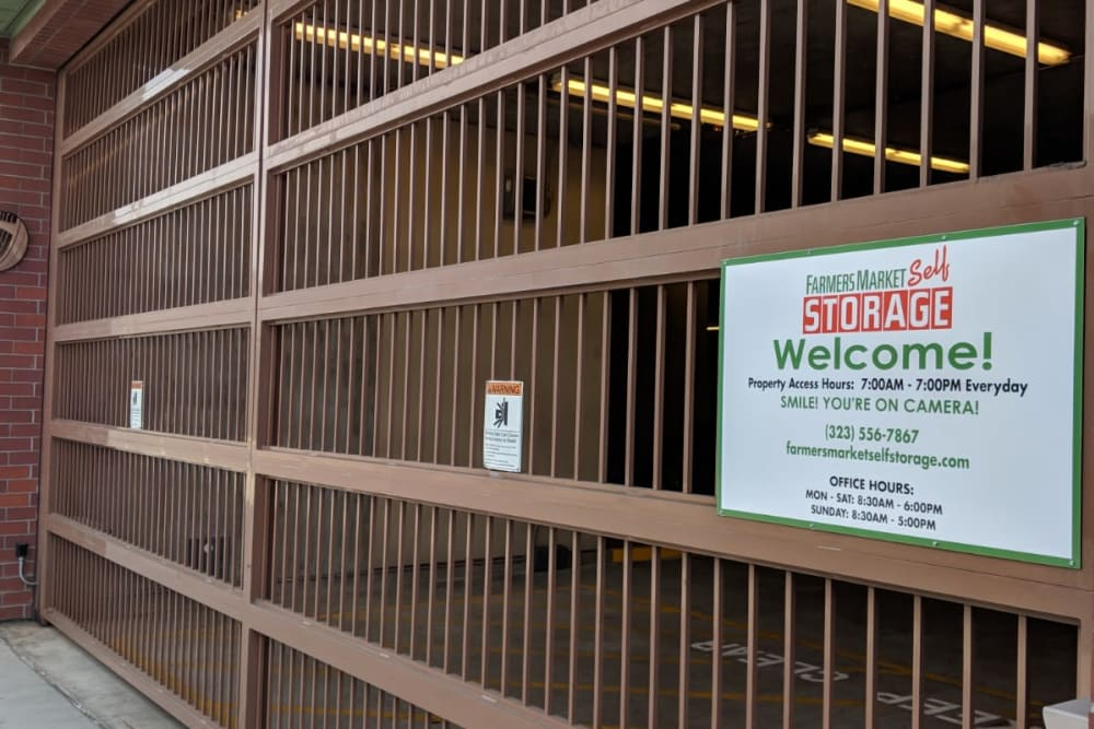 Secure Storage Entrance at Farmers Market Self Storage