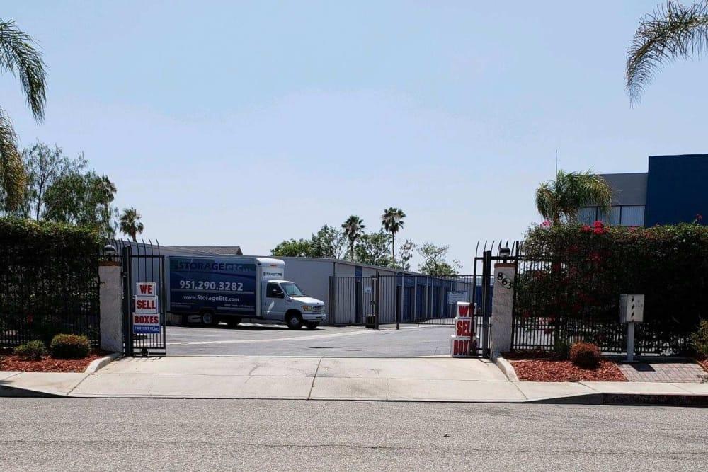 Storage Facility Entrance at Storage Etc... Pomona