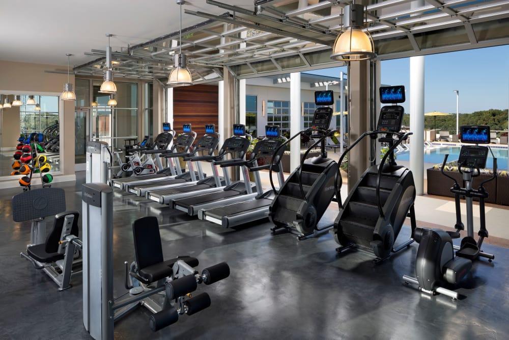 Fitness center at The Encore in Atlanta, Georgia