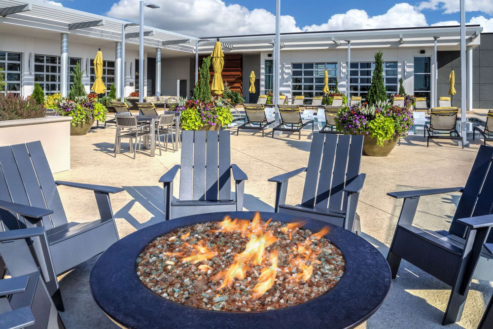 Outdoor fire pit at The Encore in Atlanta, Georgia