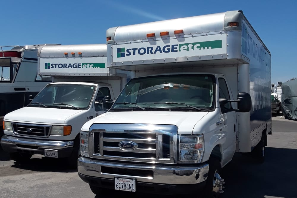 Storage and Moving Trucks at Storage Etc... Carson