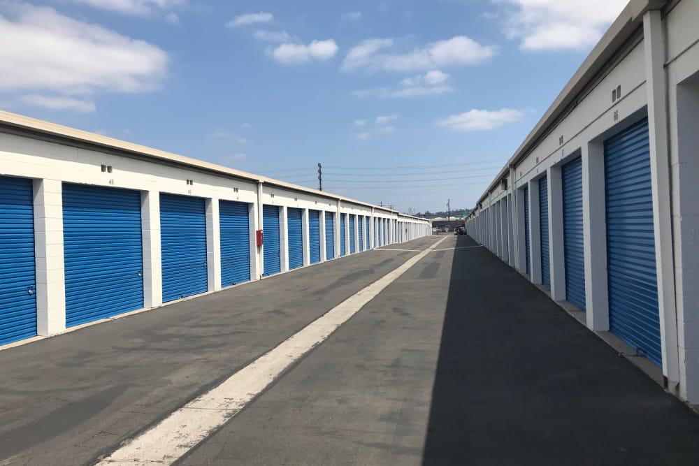 Exterior Storage Units at Storage Etc... Anaheim