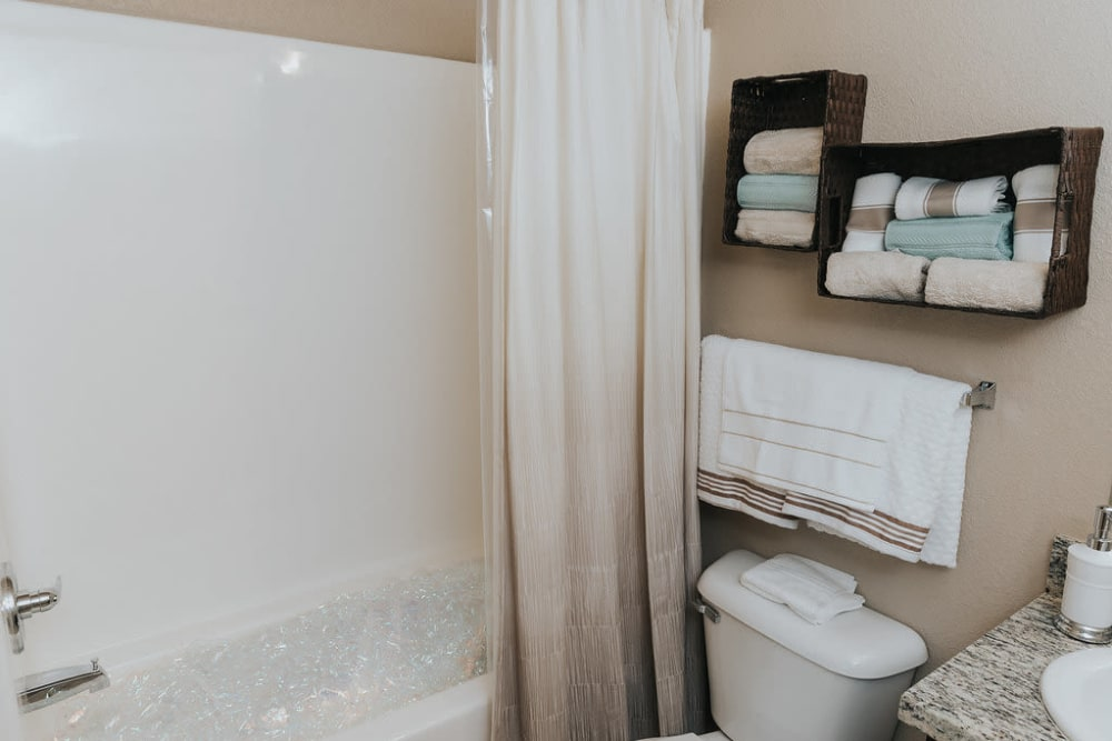 Bathroom at Belmere Luxury Apartments in Houma, LA