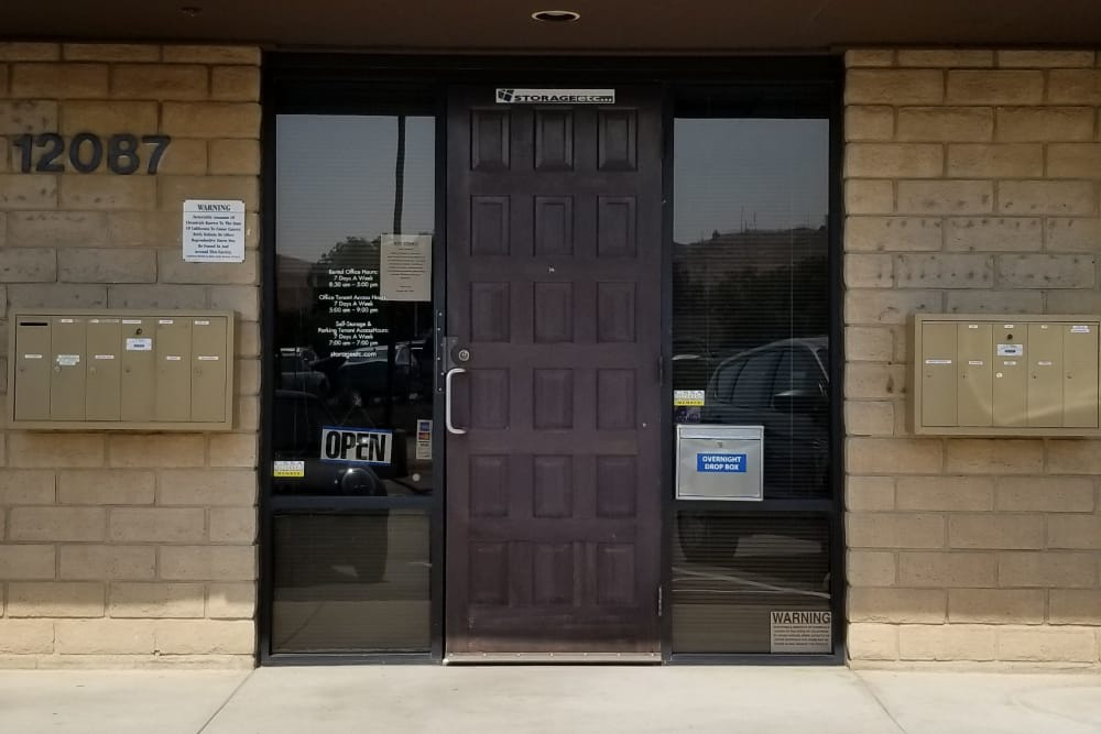 Front Entrance to Storage Leasing Office at Storage Etc... Sylmar