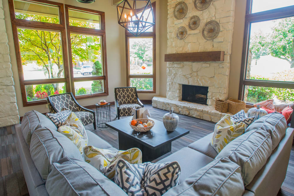 Lavish resident clubhouse interior at Chardonnay in Tulsa, Oklahoma