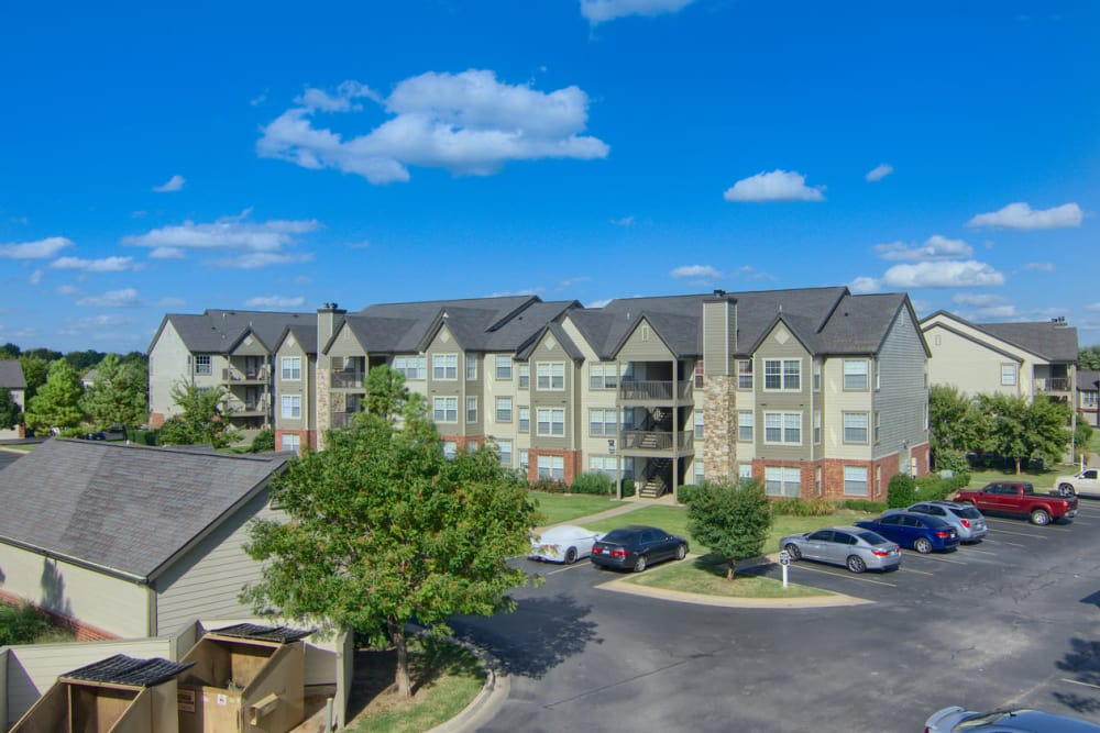 Parking lot at Villas At Preston Lakes in Owasso, Oklahoma