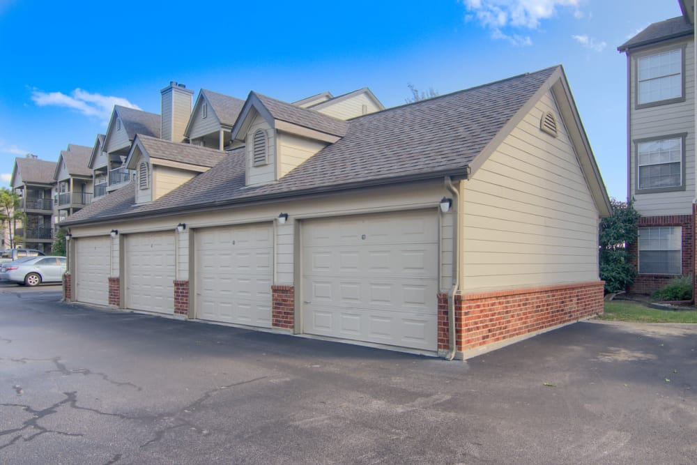 Garage at Villas At Preston Lakes in Owasso, Oklahoma