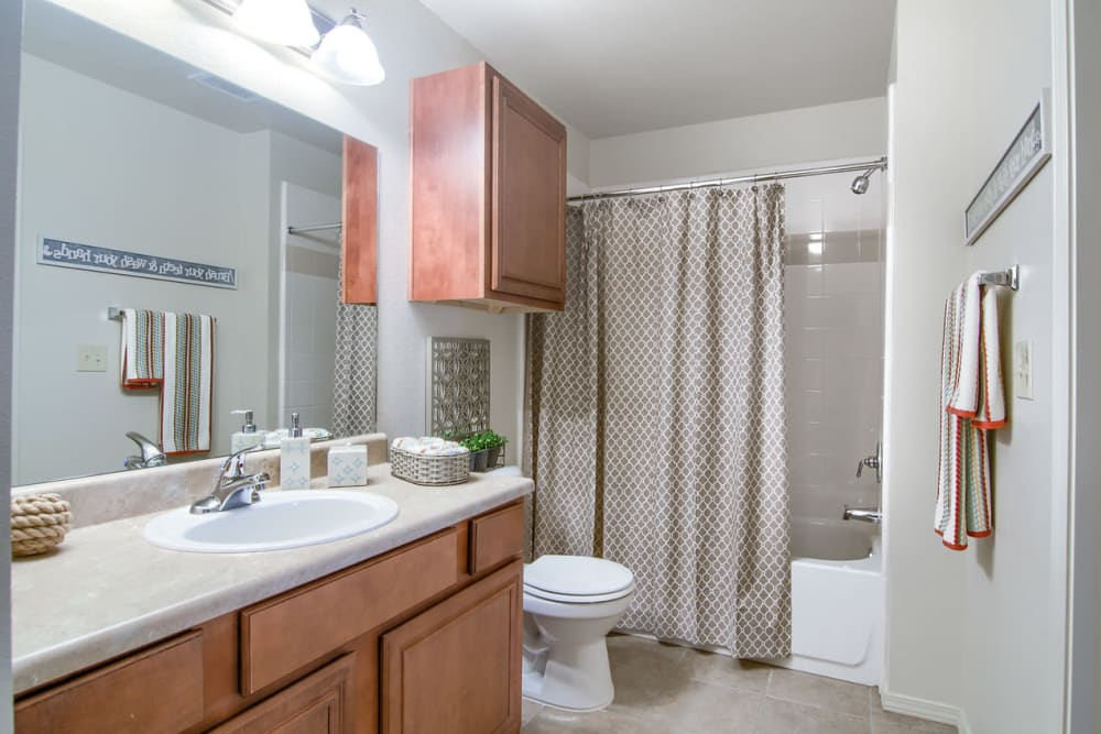 Bathroom at Villas At Preston Lakes in Owasso, Oklahoma