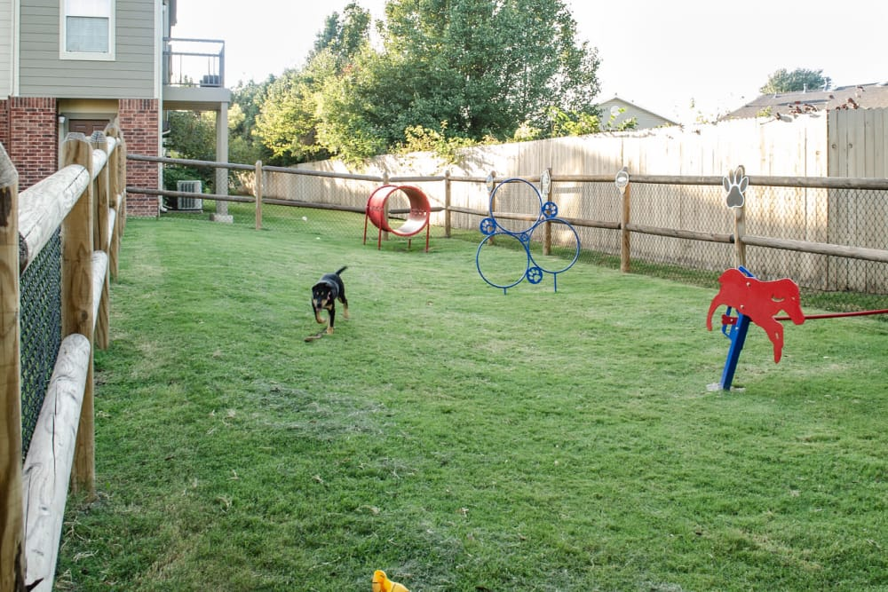 Dog park at Villas At Preston Lakes in Owasso, Oklahoma