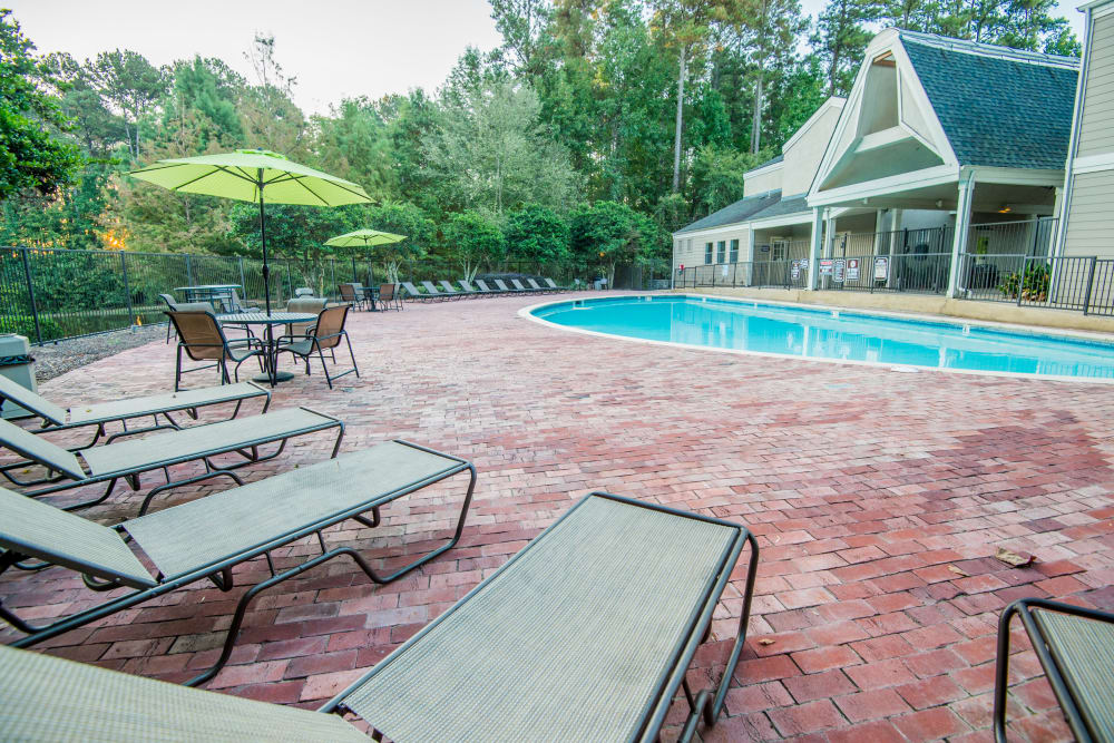 Resort style pool at The Pointe of Ridgeland in Ridgeland, Mississippi