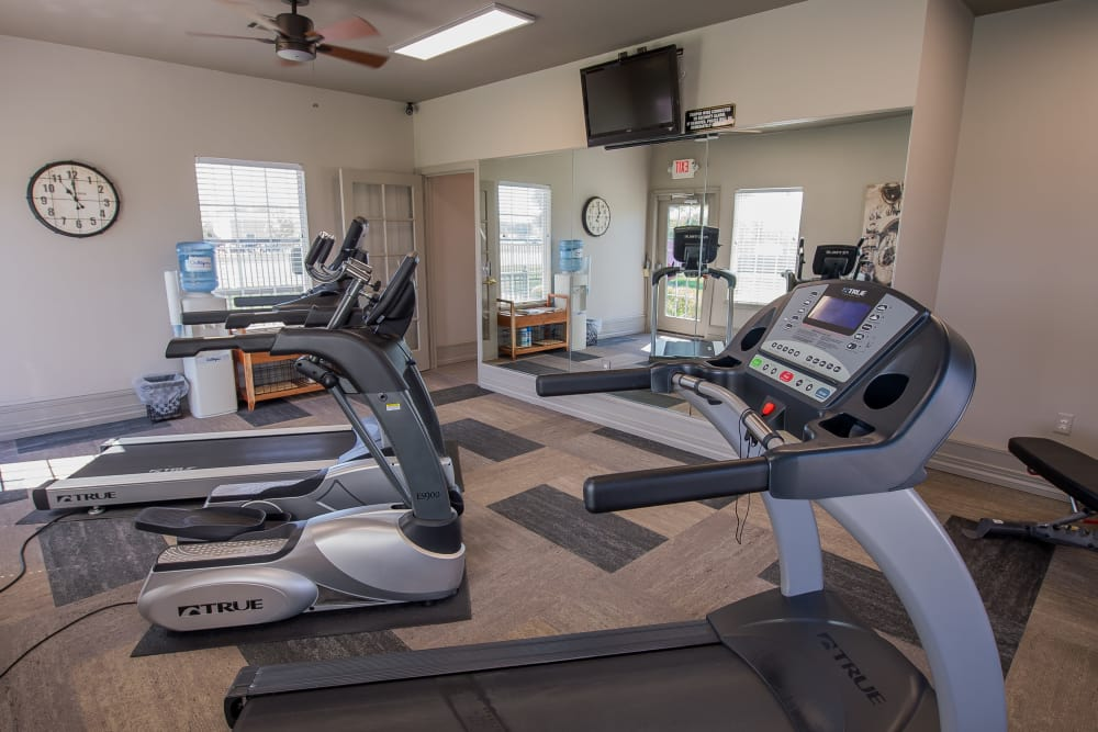 Fitness center at The Remington Apartments in Wichita, Kansas